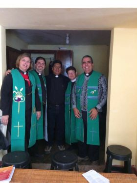 Homemade Stoles presented by Pastor Arajo